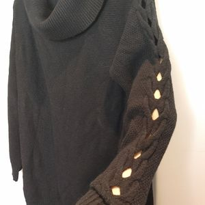 Ricki's textured knit accent sleeve Sweater